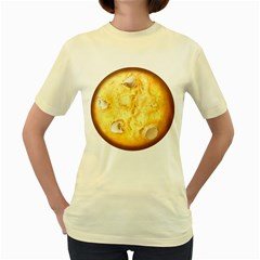 White Chocolate Chip Lemon Cookie Novelty Women s Yellow T-shirt by WaltCurleeArt
