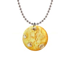 White Chocolate Chip Lemon Cookie Novelty Button Necklaces by WaltCurleeArt