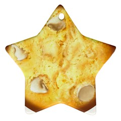 White Chocolate Chip Lemon Cookie Novelty Star Ornament (two Sides)  by WaltCurleeArt
