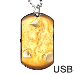 White Chocolate Chip Lemon Cookie Novelty Dog Tag Usb Flash (two Sides)  by WaltCurleeArt