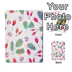 Hand Drawn Flowers Background Multi Purpose Cards (rectangle)