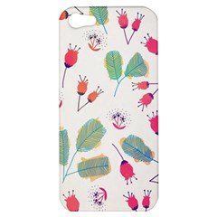 Hand Drawn Flowers Background Apple Iphone 5 Hardshell Case by TastefulDesigns