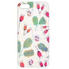 Hand Drawn Flowers Background Apple Iphone 5 Hardshell Case With Stand by TastefulDesigns