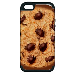 Chocolate Chip Cookie Novelty Apple Iphone 5 Hardshell Case (pc+silicone) by WaltCurleeArt