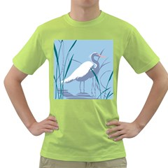 Egret Green T-shirt by WaltCurleeArt