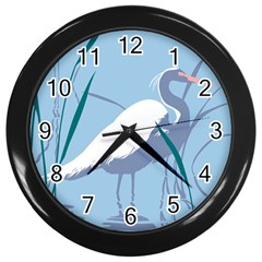 Egret Wall Clocks (black)