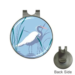 Egret Hat Clips With Golf Markers by WaltCurleeArt