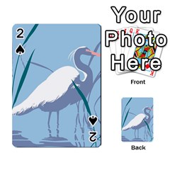 Egret Playing Cards 54 Designs  by WaltCurleeArt