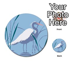 Egret Multi Purpose Cards (round)  by WaltCurleeArt