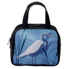 Egret Classic Handbags (one Side) by WaltCurleeArt