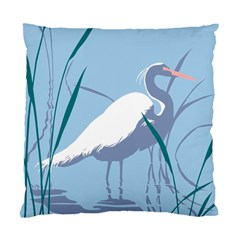 Egret Standard Cushion Case (two Sides) by WaltCurleeArt