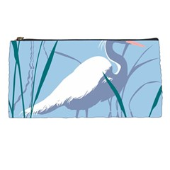 Egret Pencil Cases by WaltCurleeArt