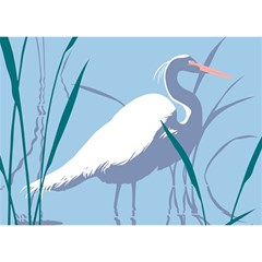 Egret Birthday Cake 3d Greeting Card (7x5)  by WaltCurleeArt