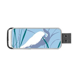 Egret Portable Usb Flash (one Side) by WaltCurleeArt