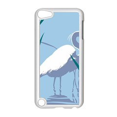 Egret Apple Ipod Touch 5 Case (white) by WaltCurleeArt