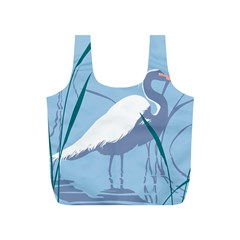 Egret Full Print Recycle Bags (s)  by WaltCurleeArt
