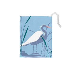 Egret Drawstring Pouches (small)