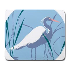 Egret Large Mousepads by WaltCurleeArt