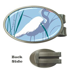 Egret Money Clips (oval)  by WaltCurleeArt