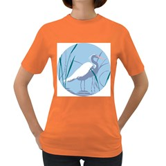 Egret Women s Dark T-shirt by WaltCurleeArt