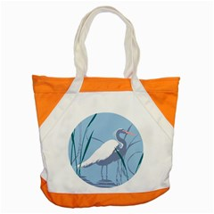 Egret Accent Tote Bag by WaltCurleeArt