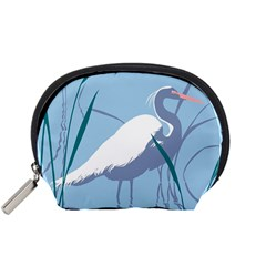 Egret Accessory Pouches (small)  by WaltCurleeArt