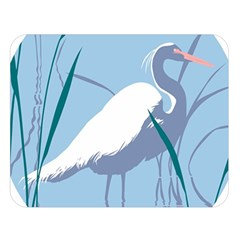 Egret Double Sided Flano Blanket (large)  by WaltCurleeArt