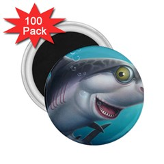 Sharky 2 25  Magnets (100 Pack)  by WaltCurleeArt