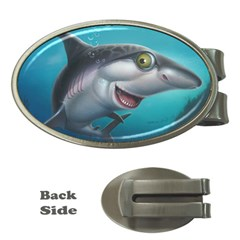 Sharky Money Clips (oval)  by WaltCurleeArt