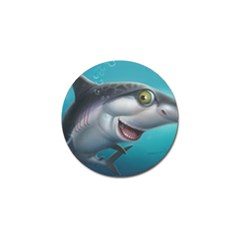 Sharky Golf Ball Marker (4 Pack) by WaltCurleeArt
