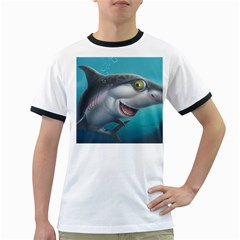 Sharky Ringer T-shirts by WaltCurleeArt