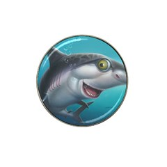 Sharky Hat Clip Ball Marker (4 Pack) by WaltCurleeArt