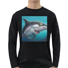 Sharky Long Sleeve Dark T-shirts by WaltCurleeArt