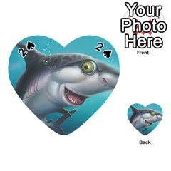 Sharky Playing Cards 54 (heart)  by WaltCurleeArt