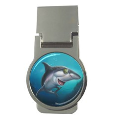 Sharky Money Clips (round)  by WaltCurleeArt