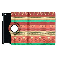 Hand Drawn Ethnic Shapes Pattern Apple Ipad 3/4 Flip 360 Case by TastefulDesigns