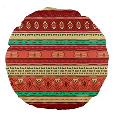Hand Drawn Ethnic Shapes Pattern Large 18  Premium Round Cushions by TastefulDesigns