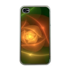 Orange Rose Apple Iphone 4 Case (clear) by Delasel
