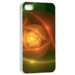 Orange Rose Apple Iphone 4/4s Seamless Case (white) by Delasel