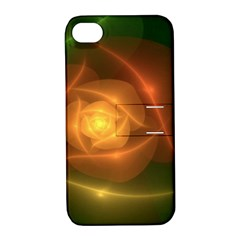 Orange Rose Apple Iphone 4/4s Hardshell Case With Stand by Delasel
