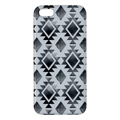 Hand Painted Black Ethnic Pattern Apple Iphone 5 Premium Hardshell Case by TastefulDesigns