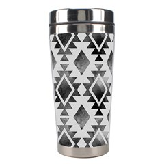 Hand Painted Black Ethnic Pattern Stainless Steel Travel Tumblers by TastefulDesigns