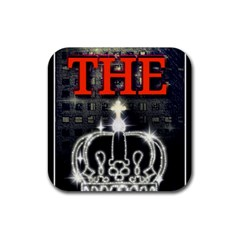 The King Rubber Square Coaster (4 Pack)  by SugaPlumsEmporium