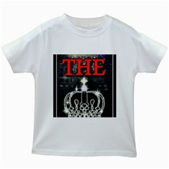 The King Kids White T Shirts by SugaPlumsEmporium