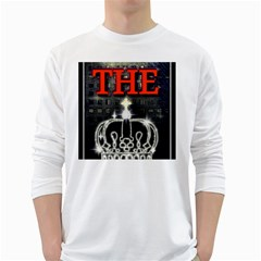 The King White Long Sleeve T Shirts by SugaPlumsEmporium