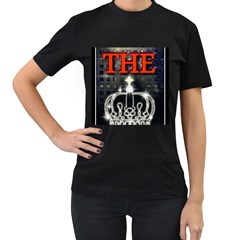 The King Women s T Shirt (black) by SugaPlumsEmporium