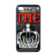 The King Apple Iphone 4 Case (black) by SugaPlumsEmporium
