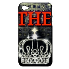 The King Apple Iphone 4/4s Hardshell Case (pc+silicone) by SugaPlumsEmporium