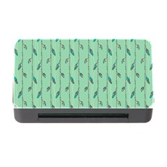 Seamless Lines And Feathers Pattern Memory Card Reader With Cf