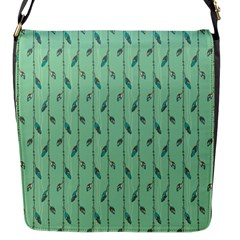 Seamless Lines And Feathers Pattern Flap Messenger Bag (s) by TastefulDesigns